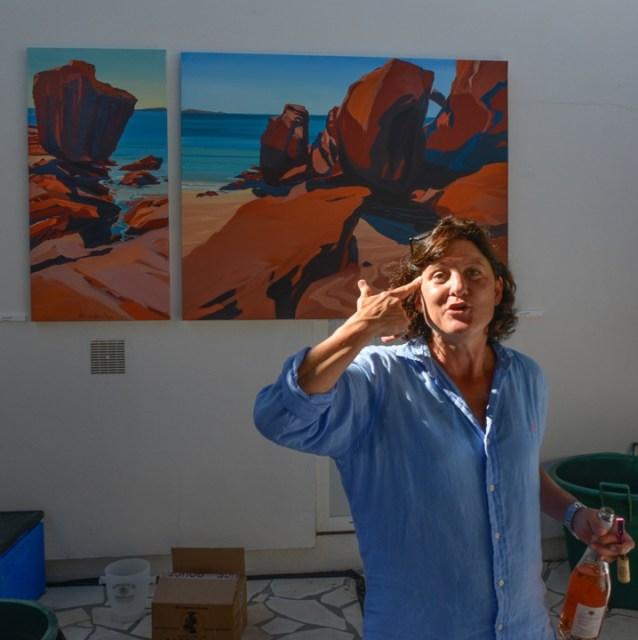 Exposition-Peintures-de-Corse-de Michelle-Auboiron-Barnes-Porto-Vecchio-2017