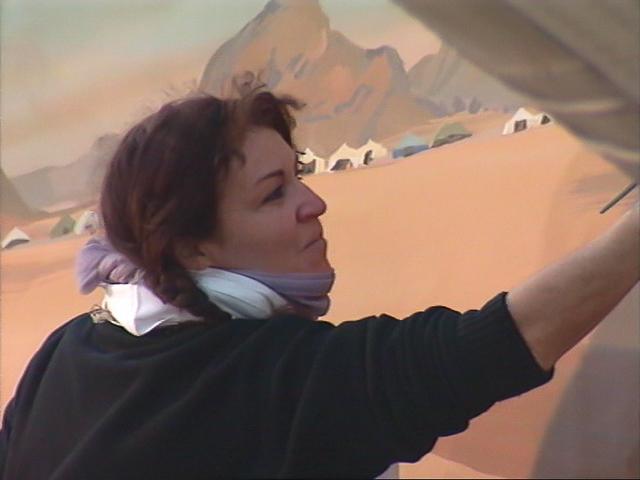 Michelle-AUBOIRON-Peintre-sur-le-Dakar-1999