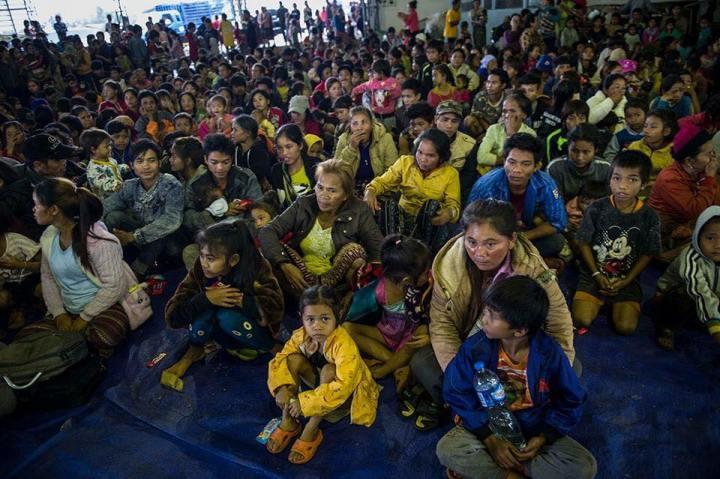attapeu inondation laos réfugiers
