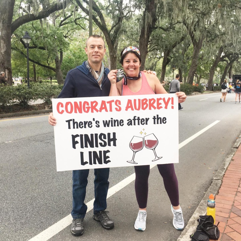 Aubrey Shaw at the Savannah 2019 Rock n Roll Half Marathon