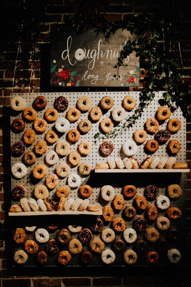 bohemian wedding doughnut ideas