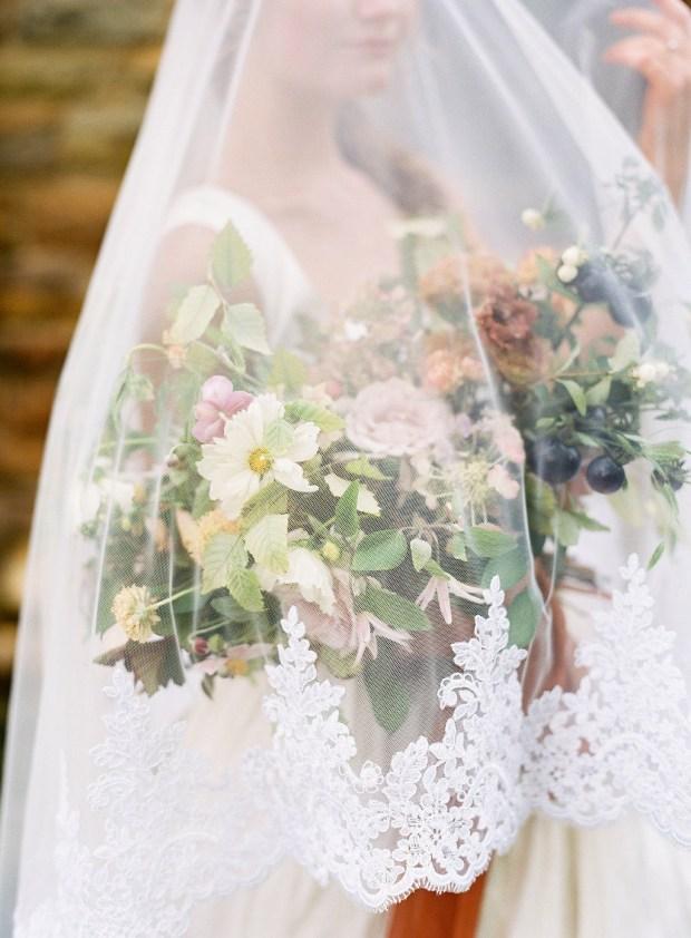fine art veil, painting inspired wedding design