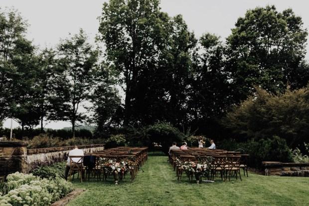 garden wedding ceremony inspiration at Bryn Du Mansion