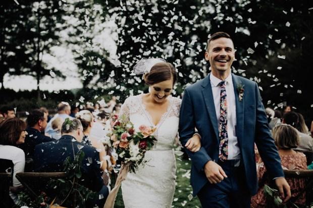 The best confetti wedding exits