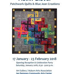 at the beginning of 2018 the auburn arts association presented an exhibition of patchwork quilts and blue jean creations by auburn resident flavin glover  [ 1479 x 1915 Pixel ]