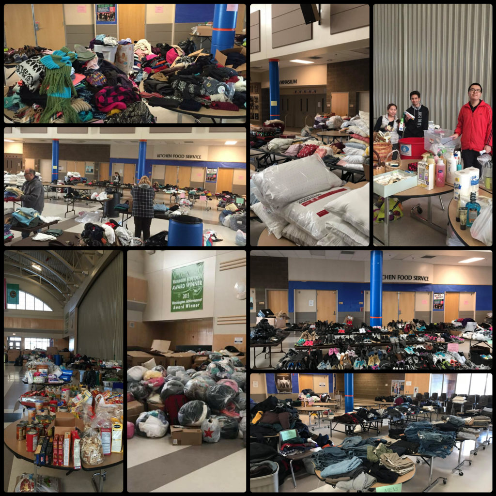 heritage building fire, auburn mountainview high school, AMHS, auburn, donations, auburn food bank