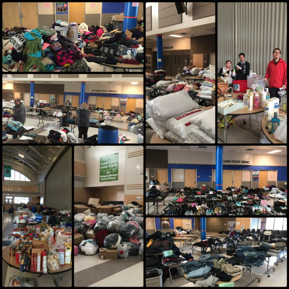 heritage building fire, auburn mountainview high school, AMHS, auburn, donations, auburn food bank