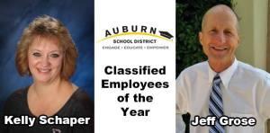 ASD employee of the year, Kelly Schaper, Jeff Grose, school board, Pathways Program, Rainier Middle School,