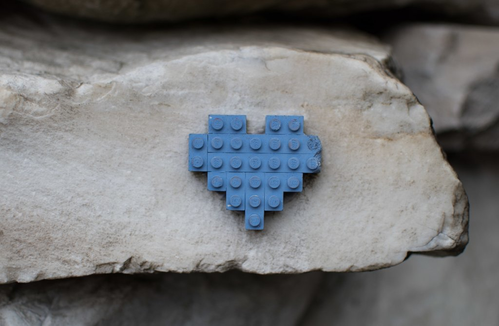 Key Bank Heart, Auburn HEarts, Lego Heart, Brick Heart, Hearts around Auburn