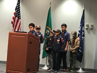 Cub Scouts, Troop 432, City Council Meeting, Auburn, Mayor Backus