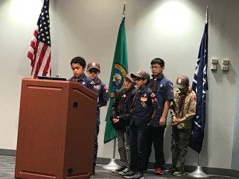 Cub Scouts, Troop 432, City Council Meeting, Auburn, Mayor Backus