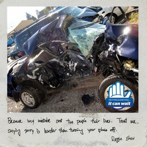 ItCanWait, Distracted Driving, Car Crash, #ItCanWait