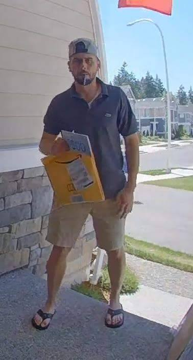 APD, package thief, porch pirate, suspect