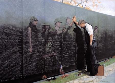 Reflections, Vietname Memorial, Lee Teter