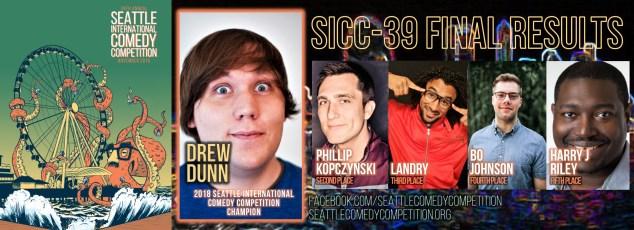 Drew Dunn, Phillip Kopczynski, Landry, Bo Johnson, Harry J Riley, SICC, Seattle International Comedy Competition,