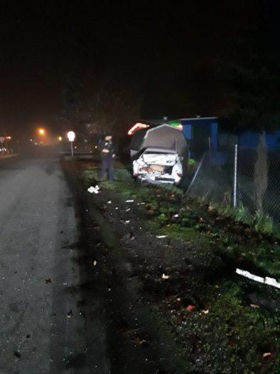 hit and run, k st ne, toyota camry, totaled car, auburn wa, crashed car,