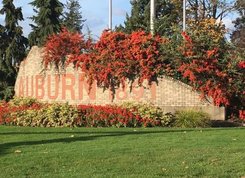 auburn wa, city of auburn, brick sign, auburn wa est 1891, kit morse