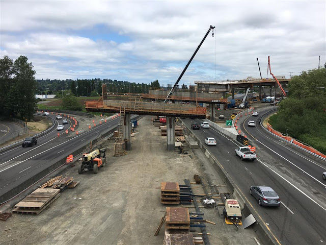 WSDOT, I-405, Road Contruction, SR-167, HOV Overpass