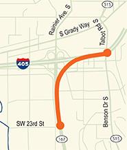 WSDOT, I-405, Road Contruction, SR-167, HOV Overpass