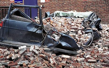 Kevin Galvin, Nisqually Earthquake, Earthquake, Van crushed,