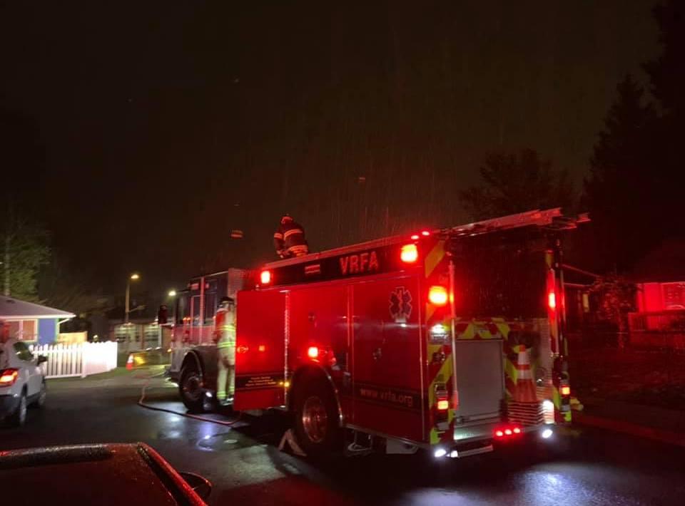 house fire, valley regional fire authoriry, auburn fire dept, auburn wa, residential fire,