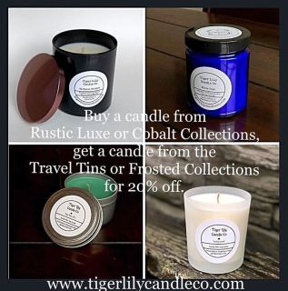 tigerlily candle co, auburn wa candle company, soy candles,