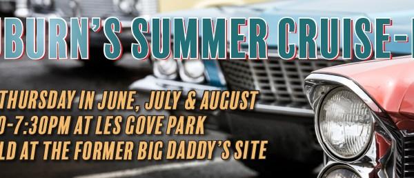 auburn summer cruise in, summer cruise-in, 2019 summer cruise in, car cruise in