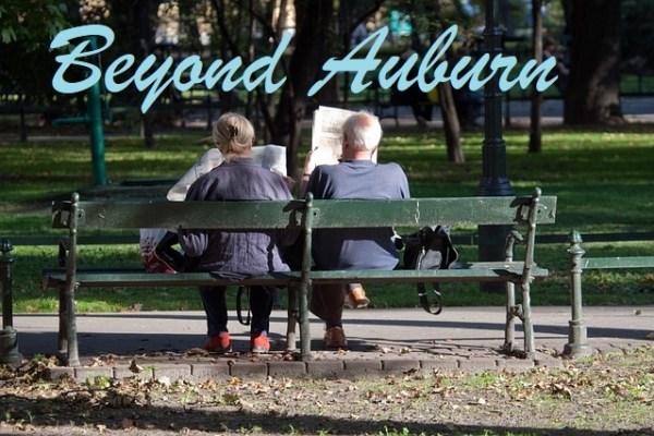 beyond auburn, auburn wa, reading the paper, newspaper, in the park, local news