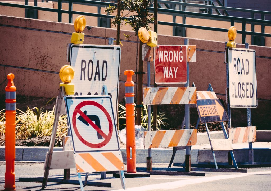 road closed, construction, road work, street closed, Jamie Street