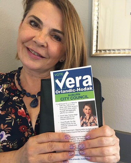 Vera Orlandic-Hodak, Vera Orlandic-Hodak auburn wa, Vera Orlandic-Hodak city council, vote vera