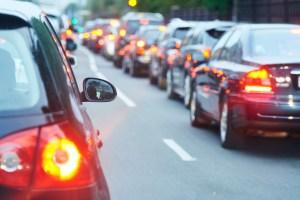 traffic, bumper to bumper, rush hour