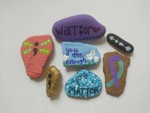 ock painted, mod podge art, modge pocge, painted rock, rock art, hidden rocks, suicide prevention rocks, suicide prevention