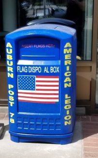 US flag, us flag disposal, american legion post 78