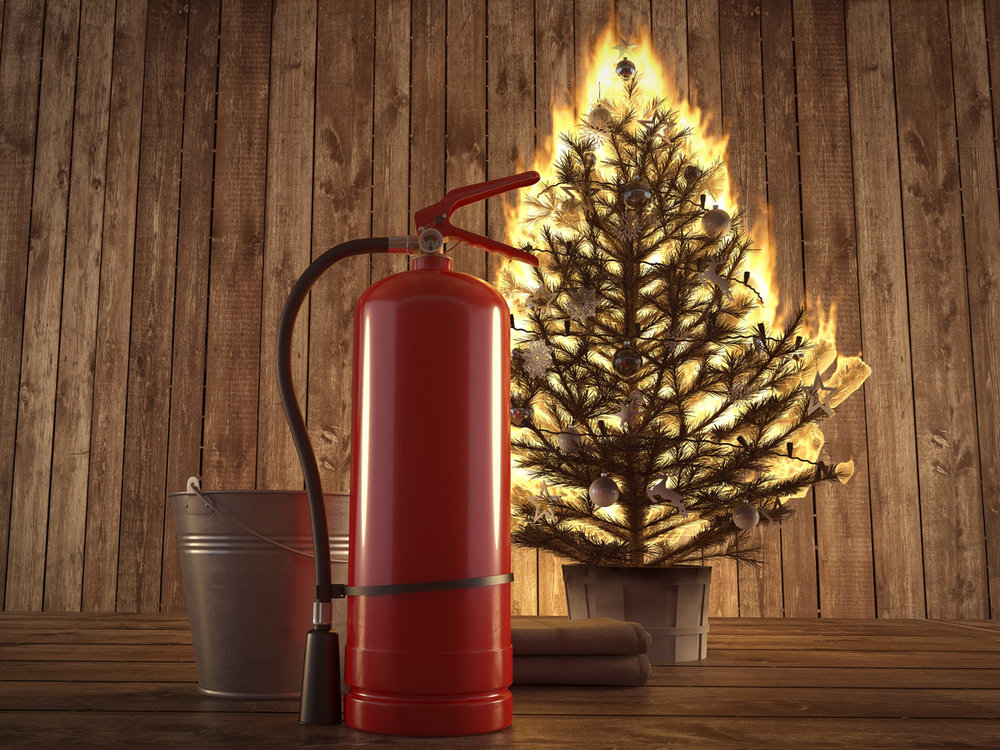 christmas tree safety, holiday fire safety, christmas tree fire,