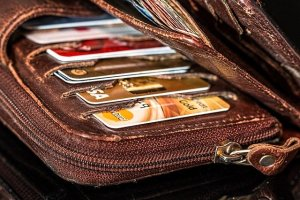credit card, credit cards, wallet with credit cards, wallet