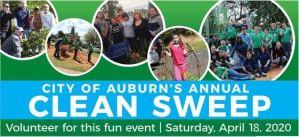 clean sweep, auburn lean sweep, auburn clean sweep, auburn earth day, auburn clean sweep 2020,