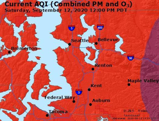 air quality, auburn wa, auburn wa skies, smoky skies, wildfire smokes,