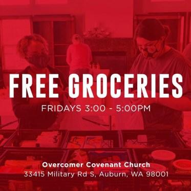 food boxes, grocery give away auburn wa, auburn wa food resources, food in Aubrun wa, food pantry Auburn wa, overcomer covenant church