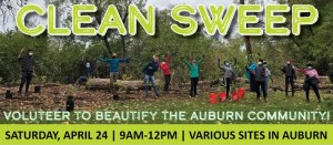 event graphic for the City of Auburn's 2021 Clean Sweep
