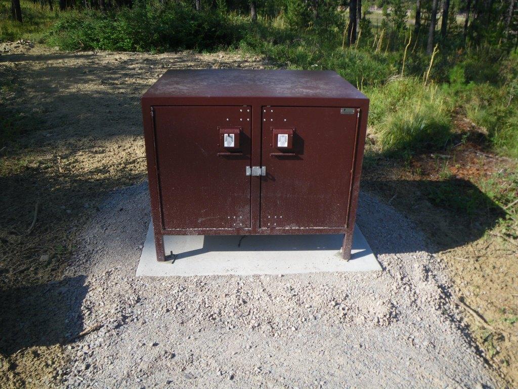 a bear food locker at a WA campsite