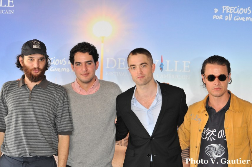 Deauville Photocall Good Time Josh Safdie - Benny Safdie -Robert Pattinson - Oscar Boyson