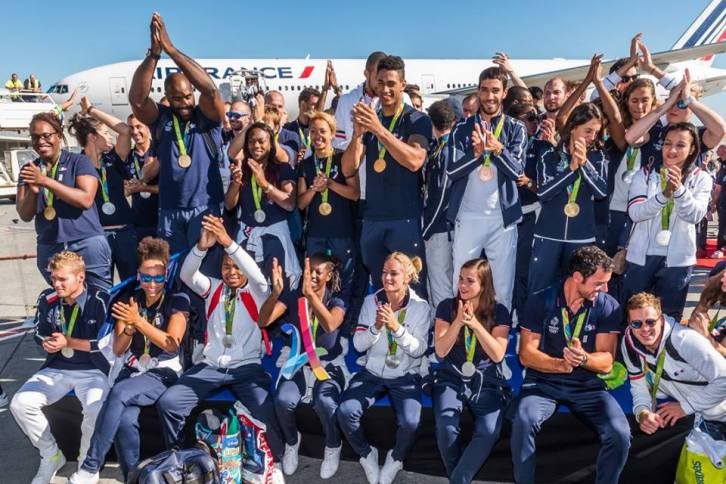 L'équipe de France Olympique de RIO 2016