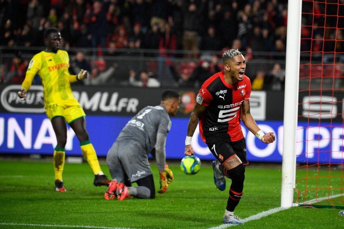 Ligue 1 22ème journée : à l'issue d'un match fou, Rennes a battu Nantes dans le derby de l'Ouest
