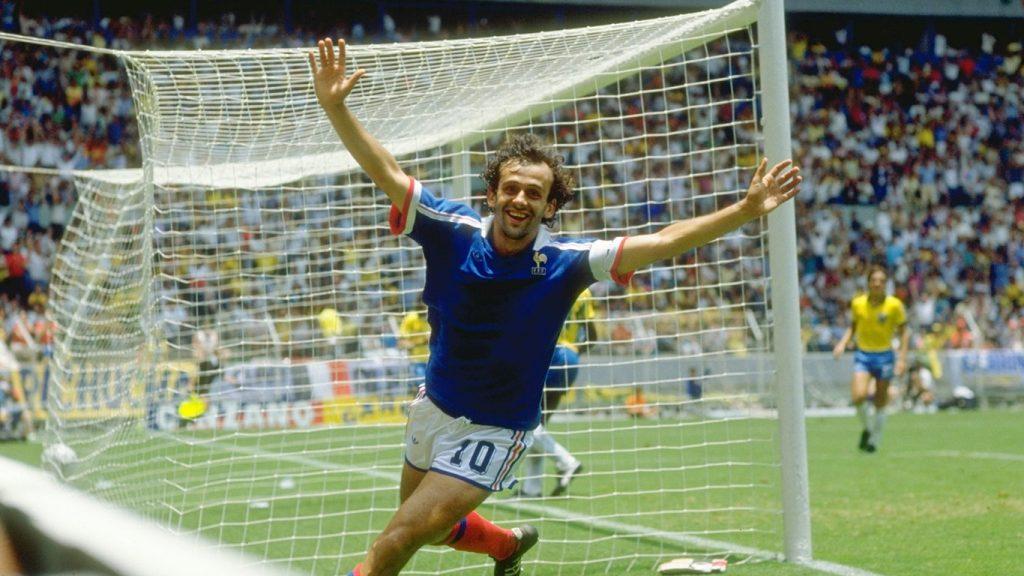 Equipe de France : Michel Platini, 2ème meilleur buteur des Bleus, avec 41 buts en 72 sélections
