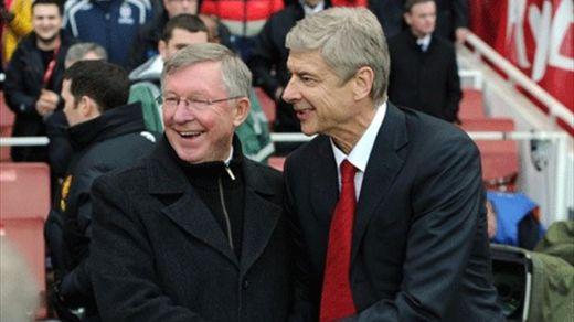 Arsène Wenger et Sir Alex Ferguson