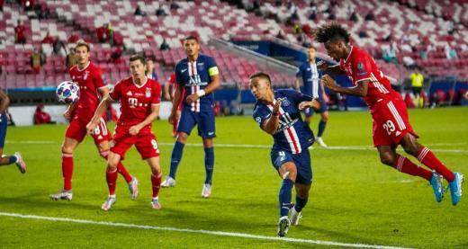 Le coup de tête de Kingsley Coman avait mis fin au parcours européen du PSG à Lisbonne