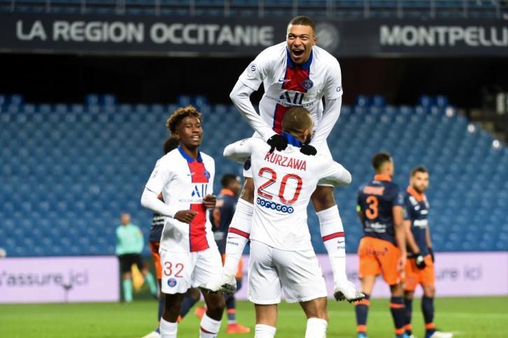 Kylian Mbappé a inscrit face à Montpellier son 100ème but sous les couleurs du PSG