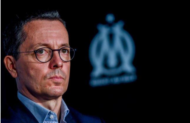 Jacques-Henri Eyraud, président délégué de plus en plus contesté par les supporters de l'OM