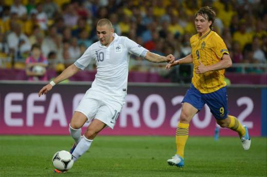 Karim Benzema n'a pas toujours brillé sur le maillot tricolore, à l'instar du France-Suède (0-2) de l'Euro 2012.