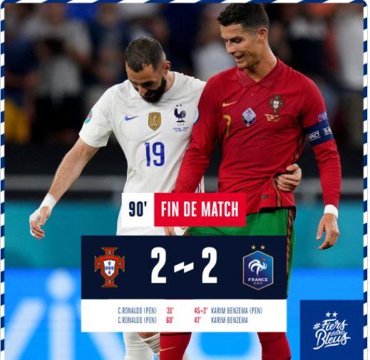 Tweet compte officiel Equipe de France @equipedefrance.
